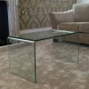 Curved Bent Glass Coffee Table (CT039)
