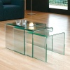 Nest of 3 Glass Side Tables (12mm)