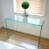 Small Hall Glass Console Table (W:60cm x D:30cm x H:75.5cm)