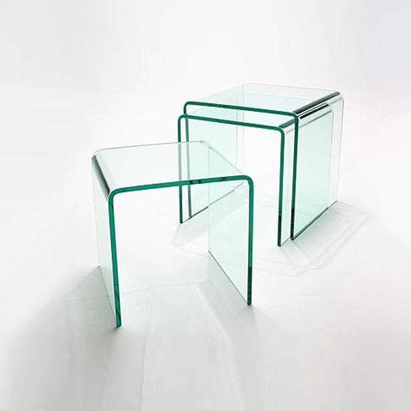 Nest of 3 Glass Side Tables (10mm)